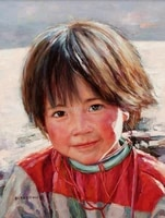 canvas prints home decal portrait pictures modern art portrait of chinese children figurative pictures oriental