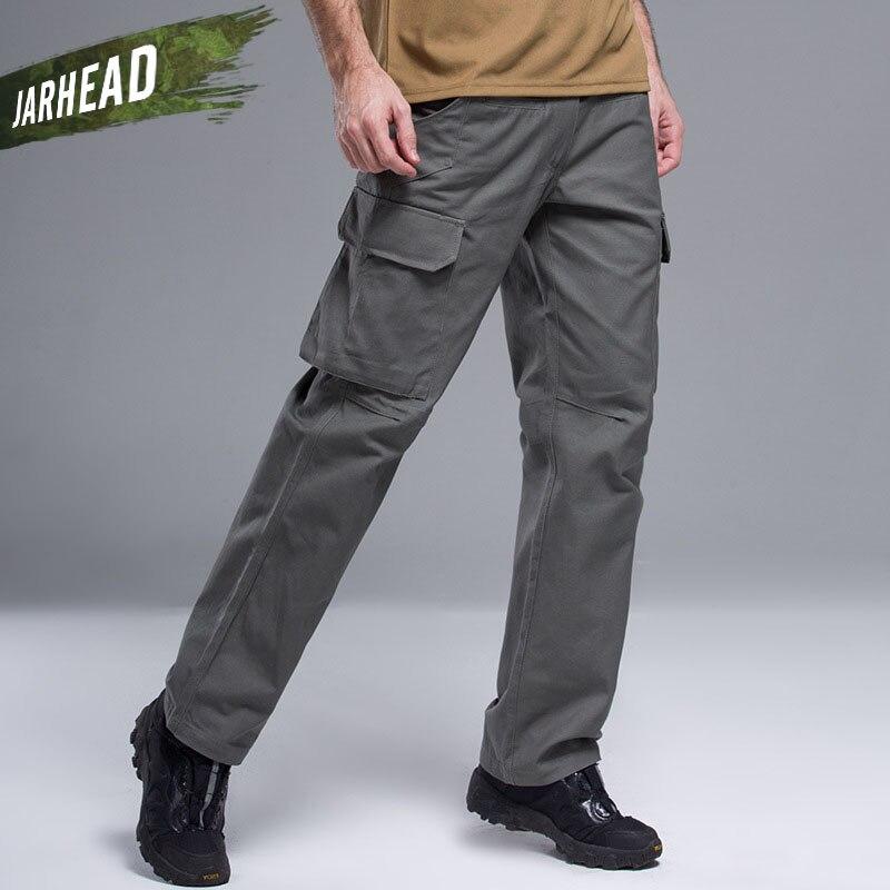Calças da Carga dos Homens de Combate Militar do Exército Bolsos de Algodão Calças de Paintball Cidade Golpe Tático Calças Stretch Militar S-3xl