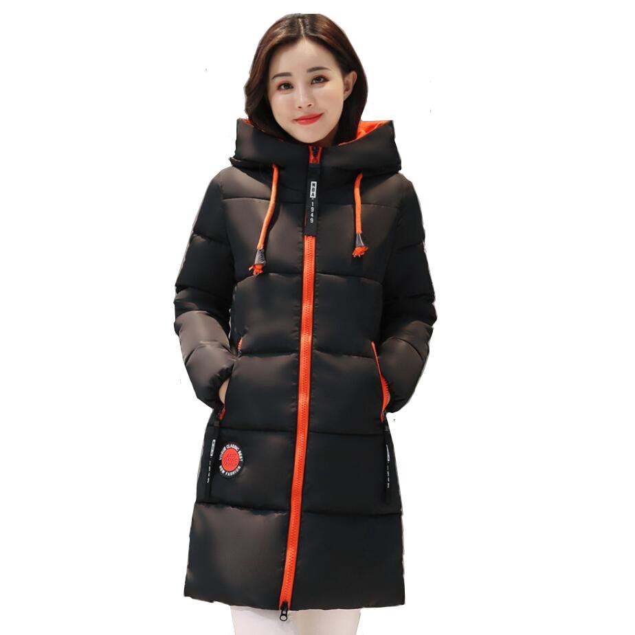 Winter Women Jacket Casual Warm Down Cotton Female Bisic Coats Outerwear Hooded Thick Long Down Parkas Women Winter Jacket Coat