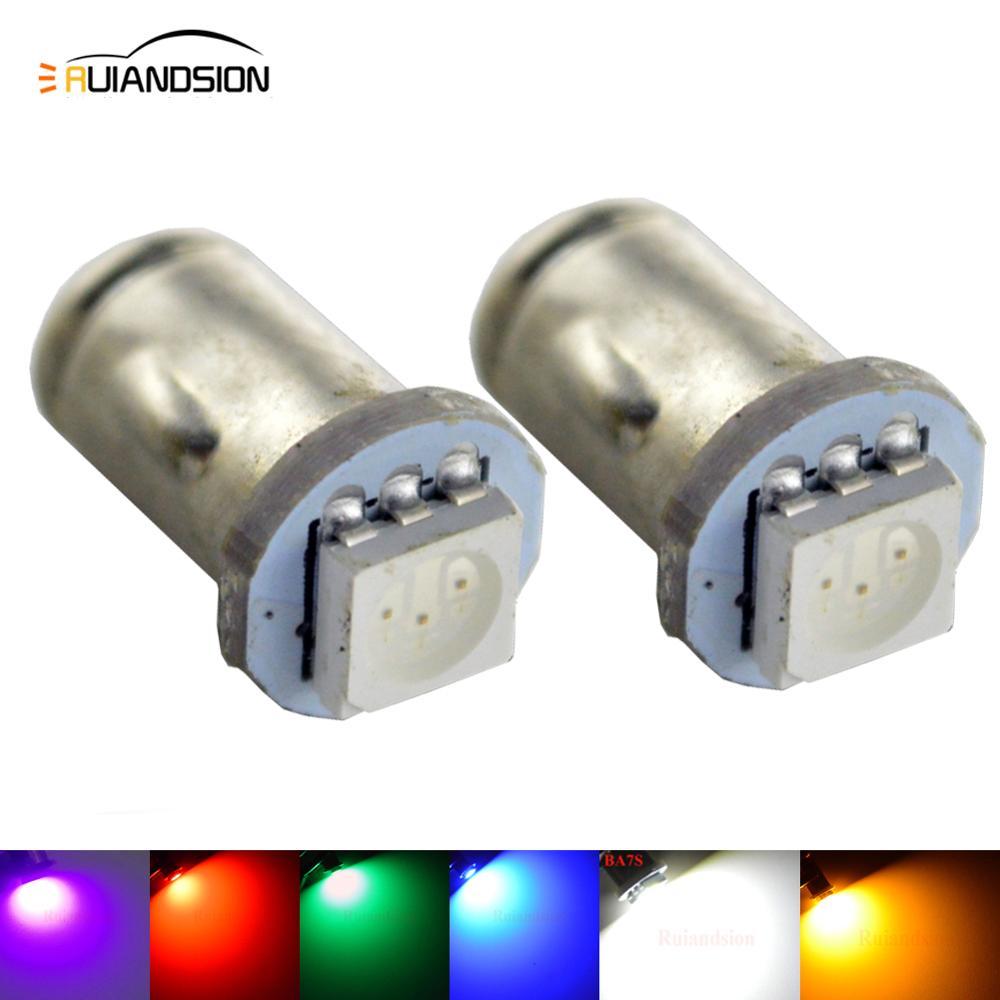 2X BA7S BASE 12V 5050SMD LED DASH advertencia bombillas azules lámparas PN 281 282 283 rojo verde amarillo Rosa Blanco