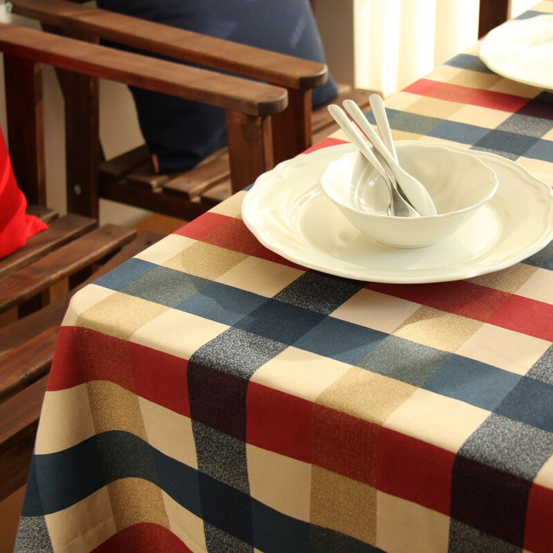 60x6 0/90x9 0/140x14 0/140x20 0/140x250cm tela de algodón a cuadros, mantel decorativo de rejilla, mantel, mantel de mesa, mantel de aislamiento, mantel