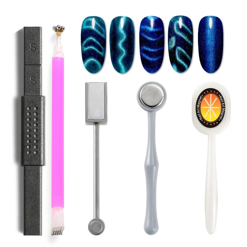 Стойкая магнитная палочка для ногтей, 5D эффект кошачьих глаз, магнит для УФ-живописи, Гель-лак для ногтей, Маникюрный Инструмент