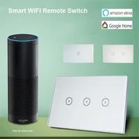 Smart Home 10A Gang Wifi commutateur intelligent US 1 2 3 Gang panneau tactile sans fil commutateur de lumiere Wifi a distance fonctionne avec Alexa Google Home