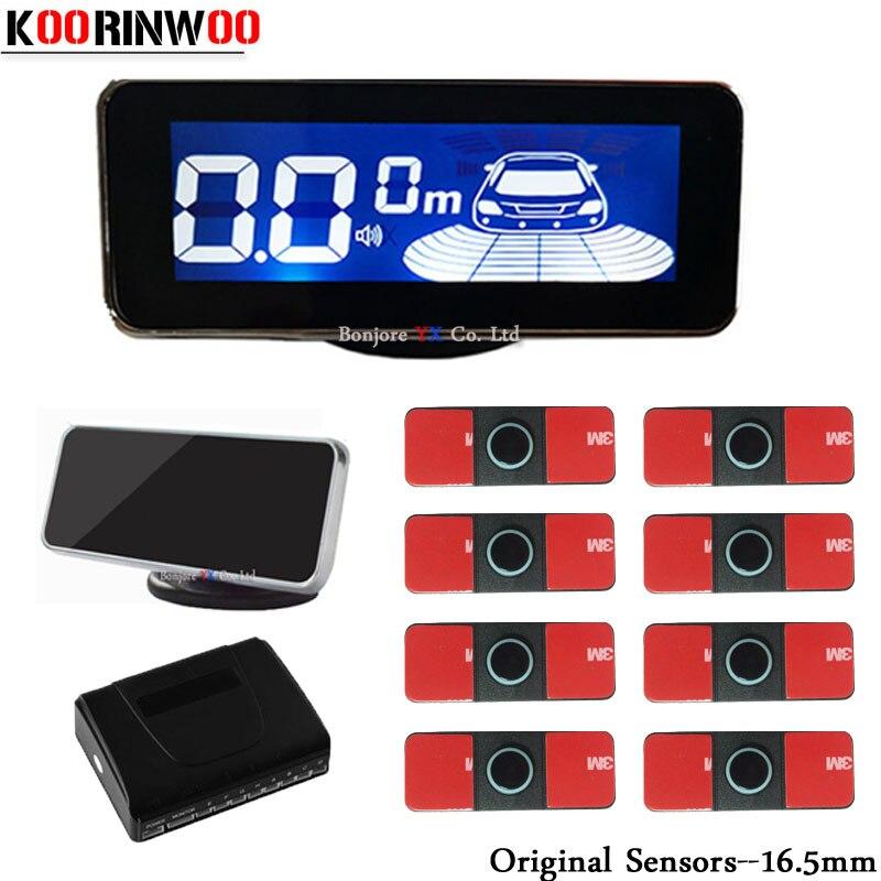 Koorinwoo-capteurs pour Parking automobile   2020mm, dorigine, 8 Radars, alarme sonore, détecteurs avant, détecteur de voiture, détecteur de voiture, 16.5