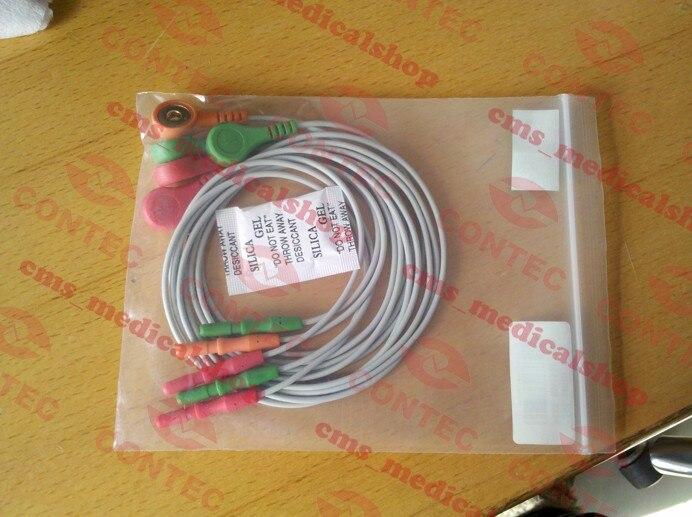 ECG Cable ECG plomo de CONTEC TLC9803 Sistema de grabadora de monitoreo ECG Holter de 3 canales