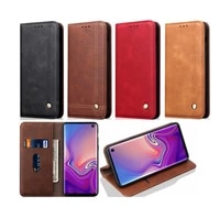 luxury leather card holder wallet case for samsung s10 s10e s10 plus case hard kickstand case for samsung m20 m10 case