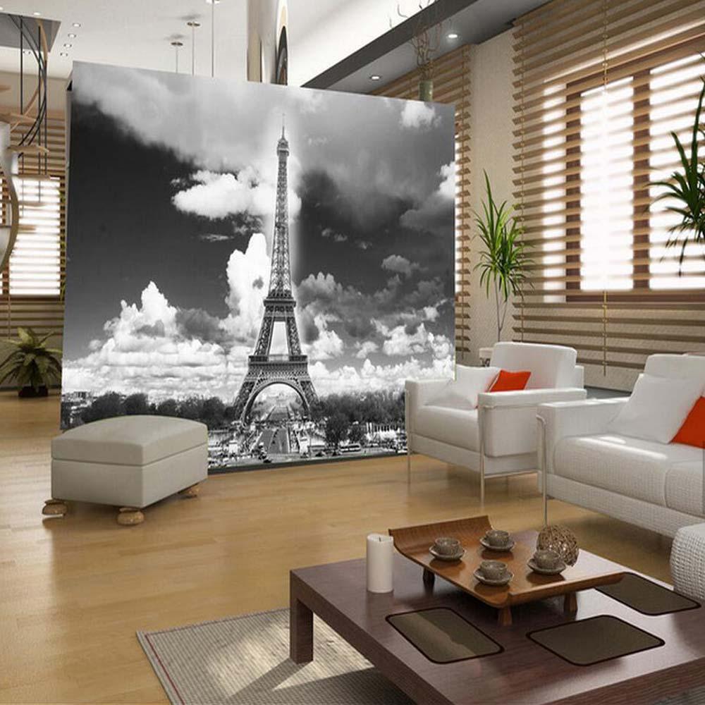 Mural de pared de la Torre Eiffel francesa, papel tapiz impreso HD, papel tapiz para sala de estar, murales de pasillo, papel pintado al óleo, papel mural 3d