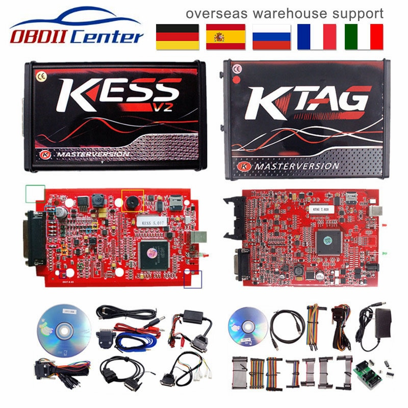 DHL Kess V2 V5.017 K-etiqueta de V7.020 Maestro de la UE Ecu programador V2.53 V2.47 Kess 5.017 K etiqueta V2.25 OBD2 herramienta de sintonización de Chip ECU en línea