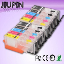 JIUPIN 10pk PGI570 PGI-570 CLI-571 Cartouche Compatible Pour Canon PIXMA MG5750 MG5751 MG5752 MG5753 MG6850 MG6851 MG6852 imprimante