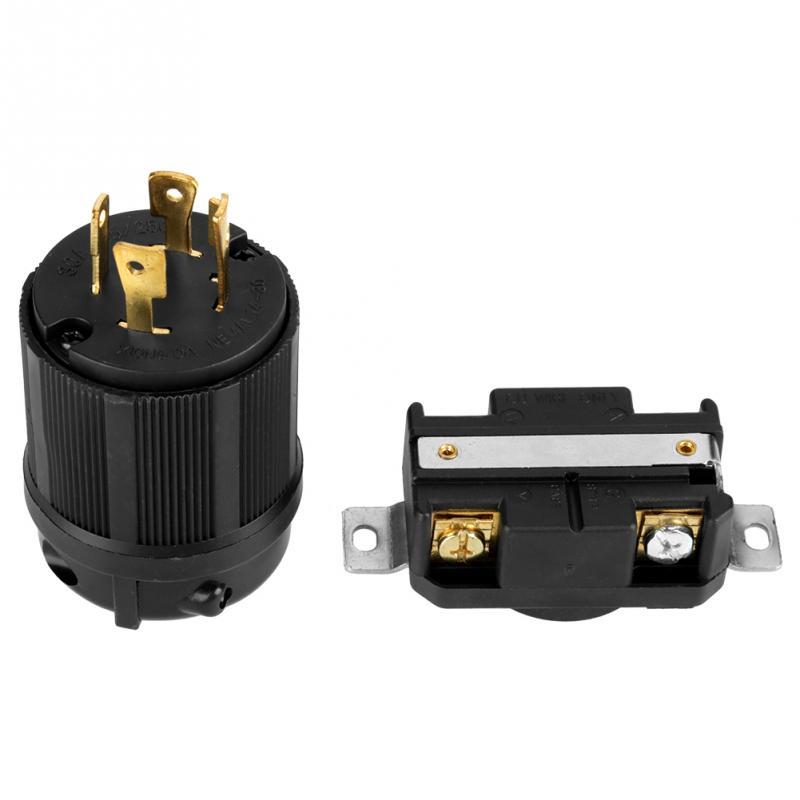 AC 125 V-250 V 30A 4 Pin NEMA L14-30 generador RV enchufe macho hembra receptáculo Kit de herramientas