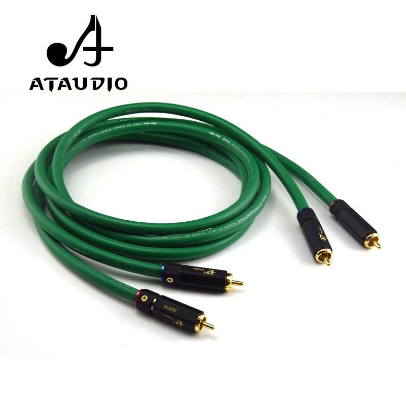 Кабель ATAUDIO 2328 Hi-Fi с посеребренным покрытием, 2RCA, высококачественный аудиокабель 6N OFC Hi-Fi для мужчин и мужчин