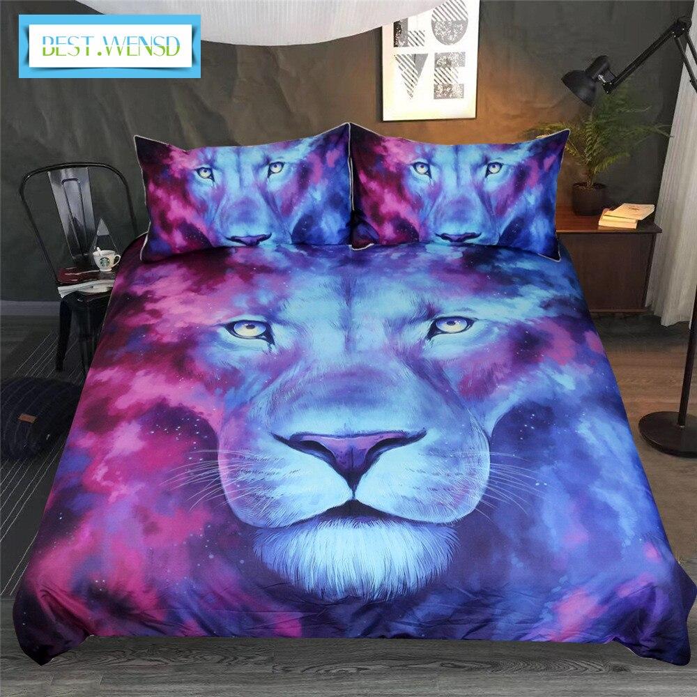 Mejor. WENSD 3d nariz cabeza de león ropa de cama reina edredón cubierta de dibujo de animales de colores para juego de cama tamaño king size lujo-sin sábana