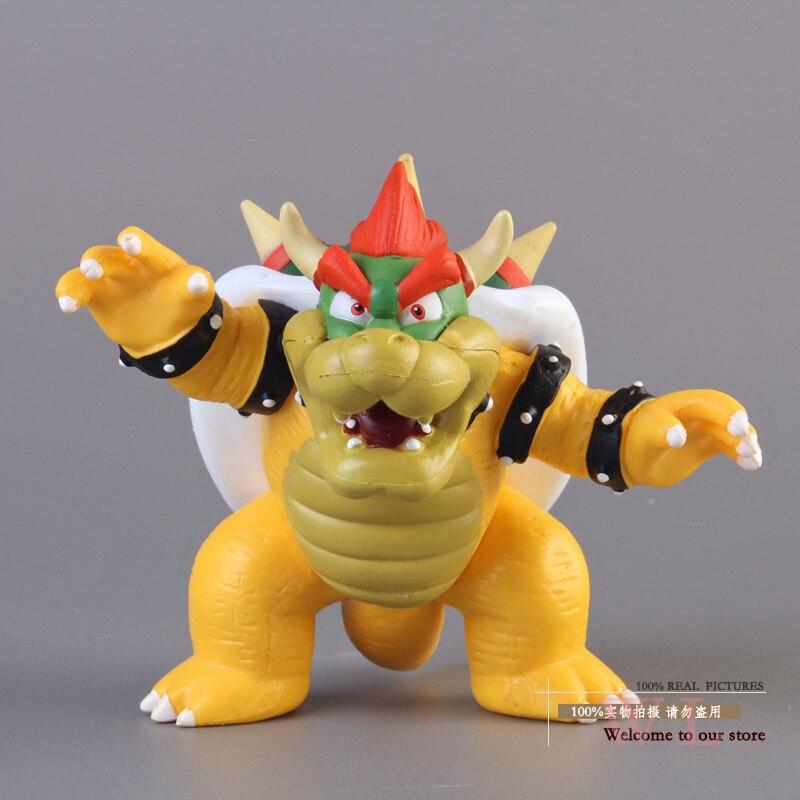 Envío gratis de Super Mario Bros Bowser de PVC MODELO DE figura de acción de juguete SMFG230