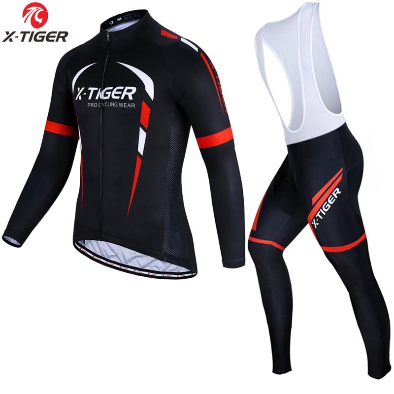 Conjunto de camisetas de Ciclismo de manga larga x-tiger 2020 Pro, ropa de bicicleta de montaña antipilling, ropa de Ciclismo de carreras, conjunto de ciclismo para hombres