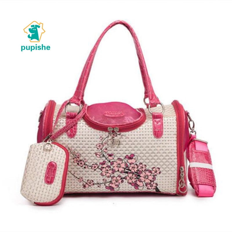 Bolso de transporte para mascotas PUPISHE, bolso respirable portátil para perro, bolso para perro, para viajes al aire libre, senderismo