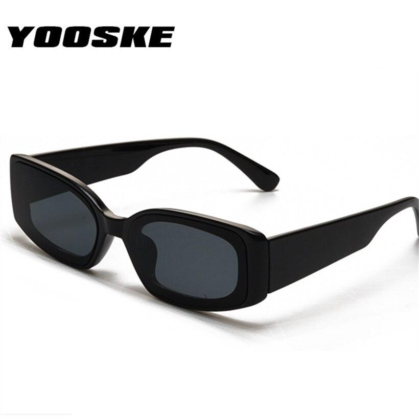 Gafas de sol de ojo de gato YOOSKE, gafas de sol rectangulares de diseñador de marca a la moda para mujer, gafas clásicas de color caramelo