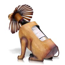 Tooarts Lion Wine Holder Wine shelf Metal Sculpture Practical sculpture Home decoration Interior decoration Crafts