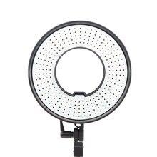 Falcon Eyes LED vidéo Selfie anneau lumière avec diffuseur bicolore Dimmable effet merveilleux pour les yeux lumière ombre moins DVR-300DVC