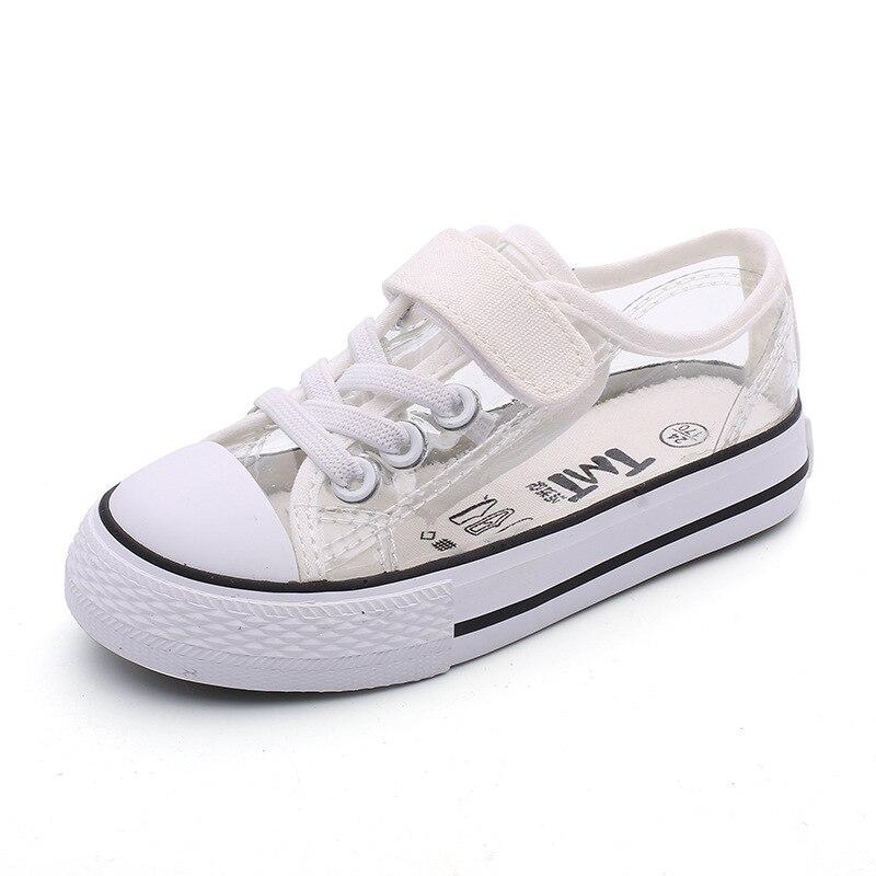 Crianças PVC Sapatos para Meninos Das Meninas 2019 de Chuva Claras Sapatilhas Moda Casual Flat Shoes Lace up Marca Escola À Prova D Água Baixa sapatos