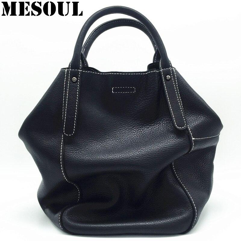 Сумка-ведро из 100% натуральной мягкой кожи, женская брендовая сумка через плечо, женская сумка-мессенджер черного цвета высокого качества