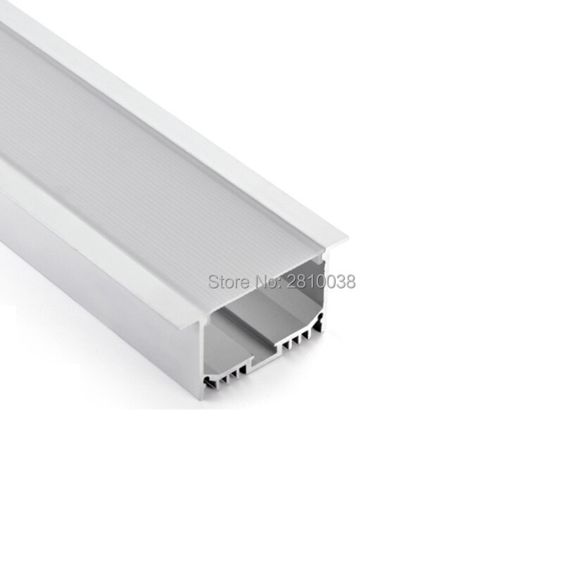100 X 2M Sets/Lot Linear flange led aluminium profile for led strip T style aluminum led channel extrusions for recessed wall