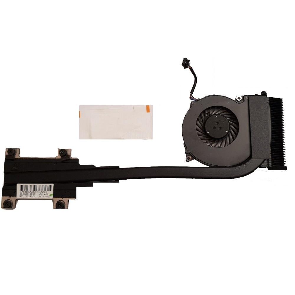 Excelente para HP 820 G1 720 G1 725 G2 refrigerador ventilador disipador de calor 730556-001 envío gratis
