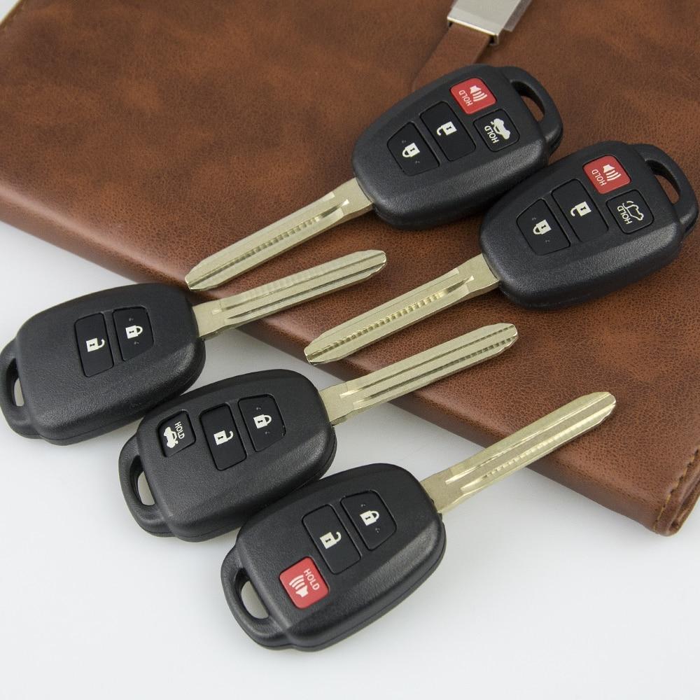 Carcasa de llave OkeyTech para Toyota Prius C Corolla Yaris Avensis Toy43, funda de repuesto 2 3 4 botones, accesorios para coche FobToy43 Blade