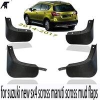Mud Flap Car Mud Flaps For 14-19 Suzuki New SX4 S-Cross Maruti Scross Mudguards Fender 2015 2016 2018 2019Mudflaps Splash Guards