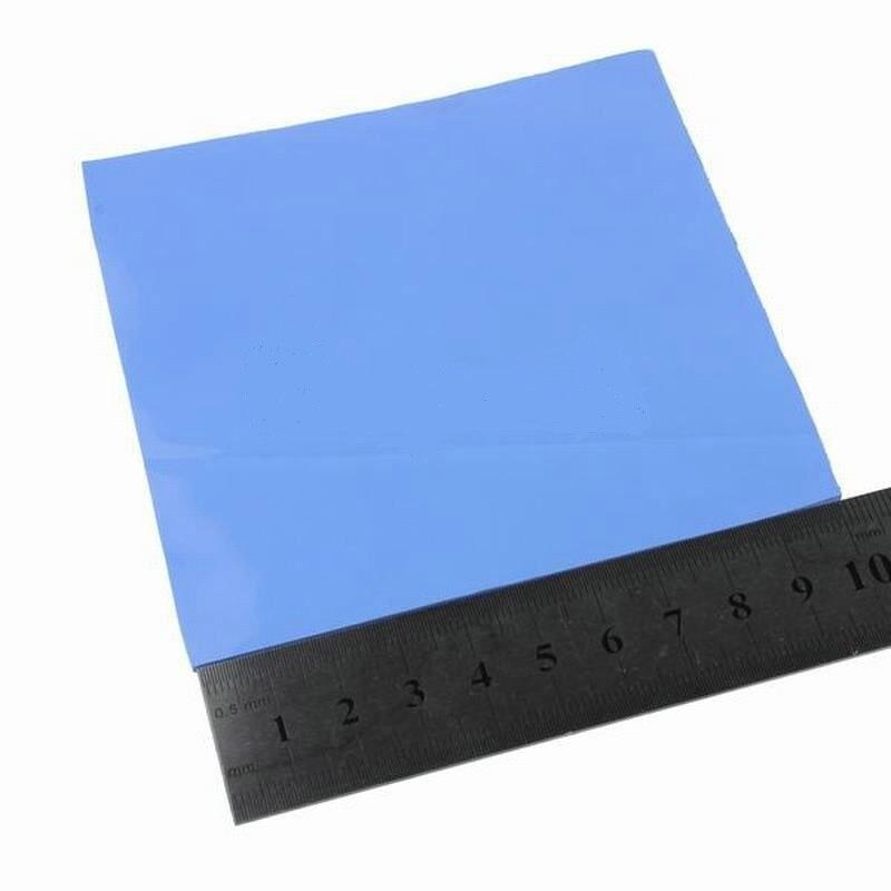 Gdstime 2 uds azul 100mm x 5mm IC disipador de conducción almohadilla térmica 100x5mm compuestos almohadillas de silicona Notebook Laptop Chip refrigeración