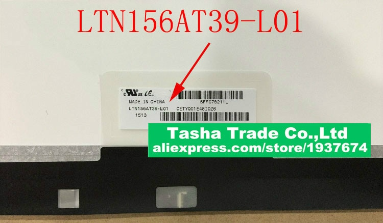 LTN156AT39-L01 LTN156AT39 L01 محمول شاشة LCD شاشة 1366*798 EDP 30 دبابيس