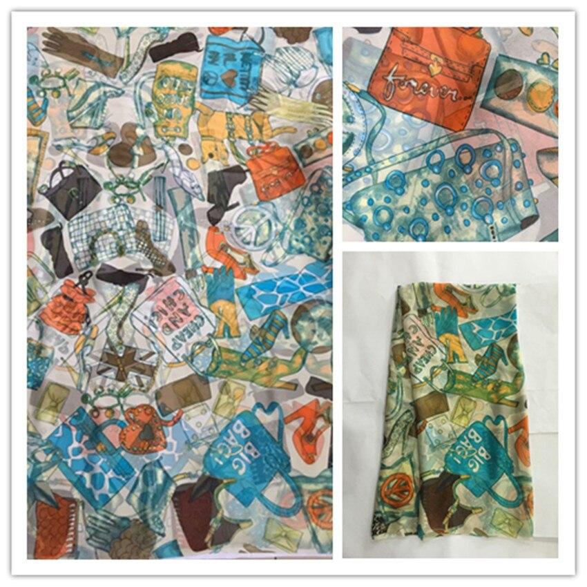 140 cm nuevo verano estampado 100% seda gasa tela moda colorido leopardo diseño estampado 100% seda gasa tela 6 momme DS02