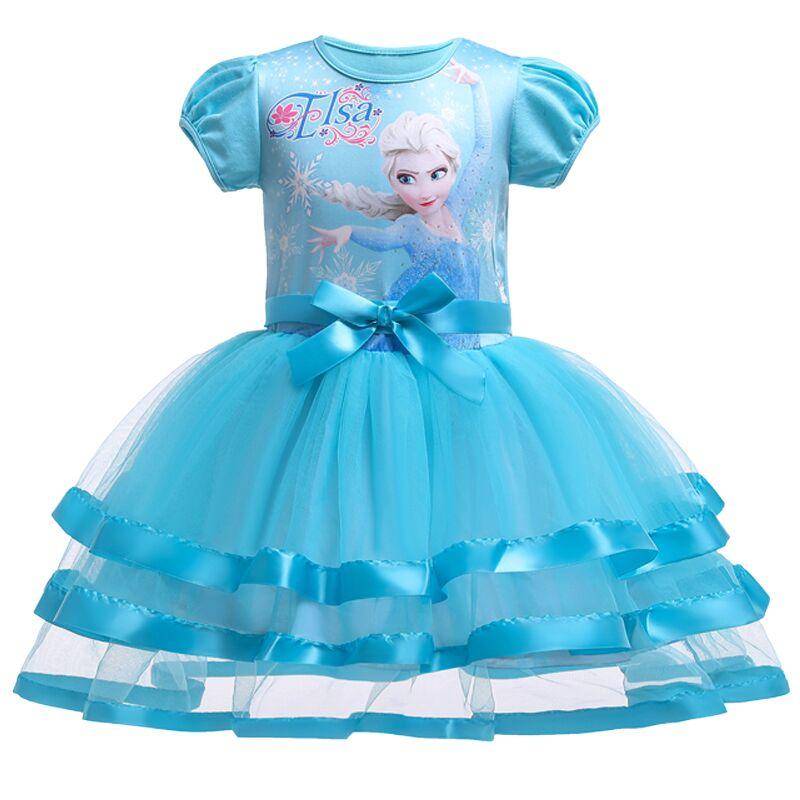 Berngi, 2-8 años de verano, tutú de Elsa, chaleco de encaje, vestido para niñas, vestido de regalo para niñas, ropa para niños, ropa de fiesta de navidad