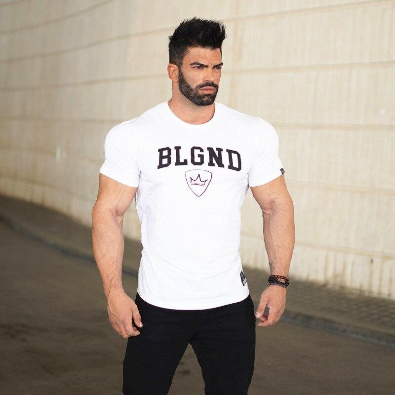 الرجال اللياقة البدنية الملابس كمال الاجسام القمصان Gasp قصيرة الأكمام تجريب تي شيرت العضلات قمصان بلايز رجل أعلى المحملات