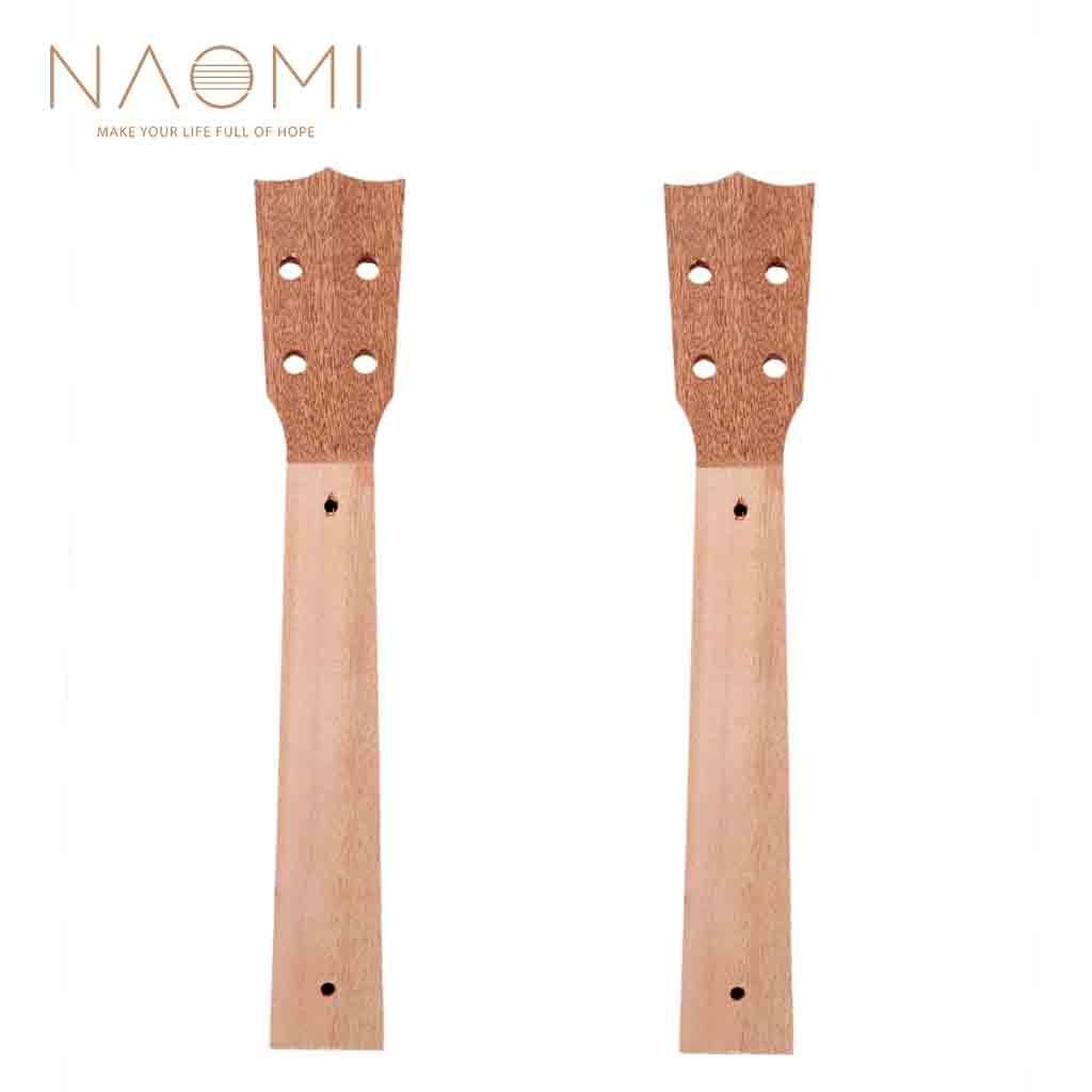 Ukelele de caoba de 2 uds con cuello de 26 pulgadas y cuello de ukelele de madera para ukelele, partes de ukelele DIY