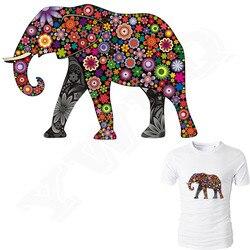 Colife Colorido Elefante Patches Ferro Em Patches Para Roupas DIY Acessório Decoração de Impressão Fácil Por Ferros Domésticos