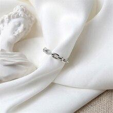 2020 offre spéciale Simple véritable tibétain argent anneaux pour les femmes Simple lien chaîne anneau partie casual Vintage bijoux livraison directe