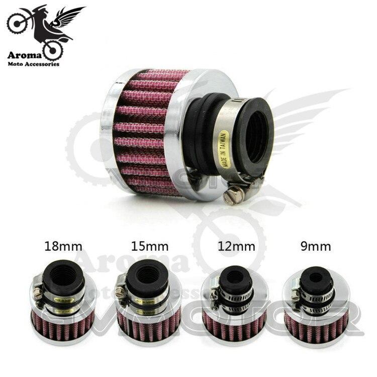 Мини мотоциклетные воздушные фильтры для suzuki gz150a 9 мм 12 мм 15 мм 18 мм unviersal Воздухоочиститель для yamaha SRZ150 honda CB1000