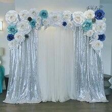 B · Y-tissu à paillettes 3mm bricolage   2 Yards 180x125cm tissu scintillant argenté pour vêtements de scène, décoration de maison, fête de mariage-5.23
