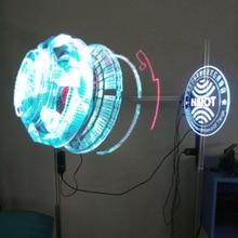 Proyector holográfico LED Universal, reproductor de holograma portátil, ventilador de pantalla holográfica 3D, proyector de holograma único