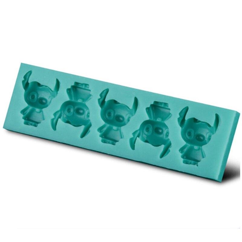 Lindo muñeco pequeño moldes de pastel de silicona no-Stick fondant de azúcar Gelatina gelatina hielo 3D moldes de jabón 1825