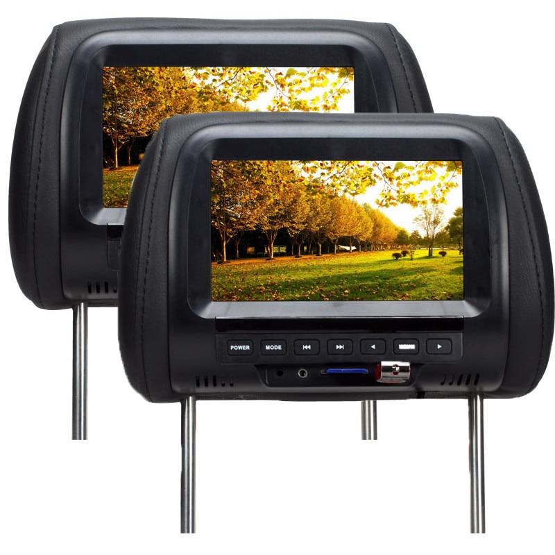 SH7038-P5, одна пара, Прямая поставка с фабрики, 7 дюймов, автомобильный монитор, TFT светодиодный цифровой экран, подголовник, монитор, MP5 плеер, по...