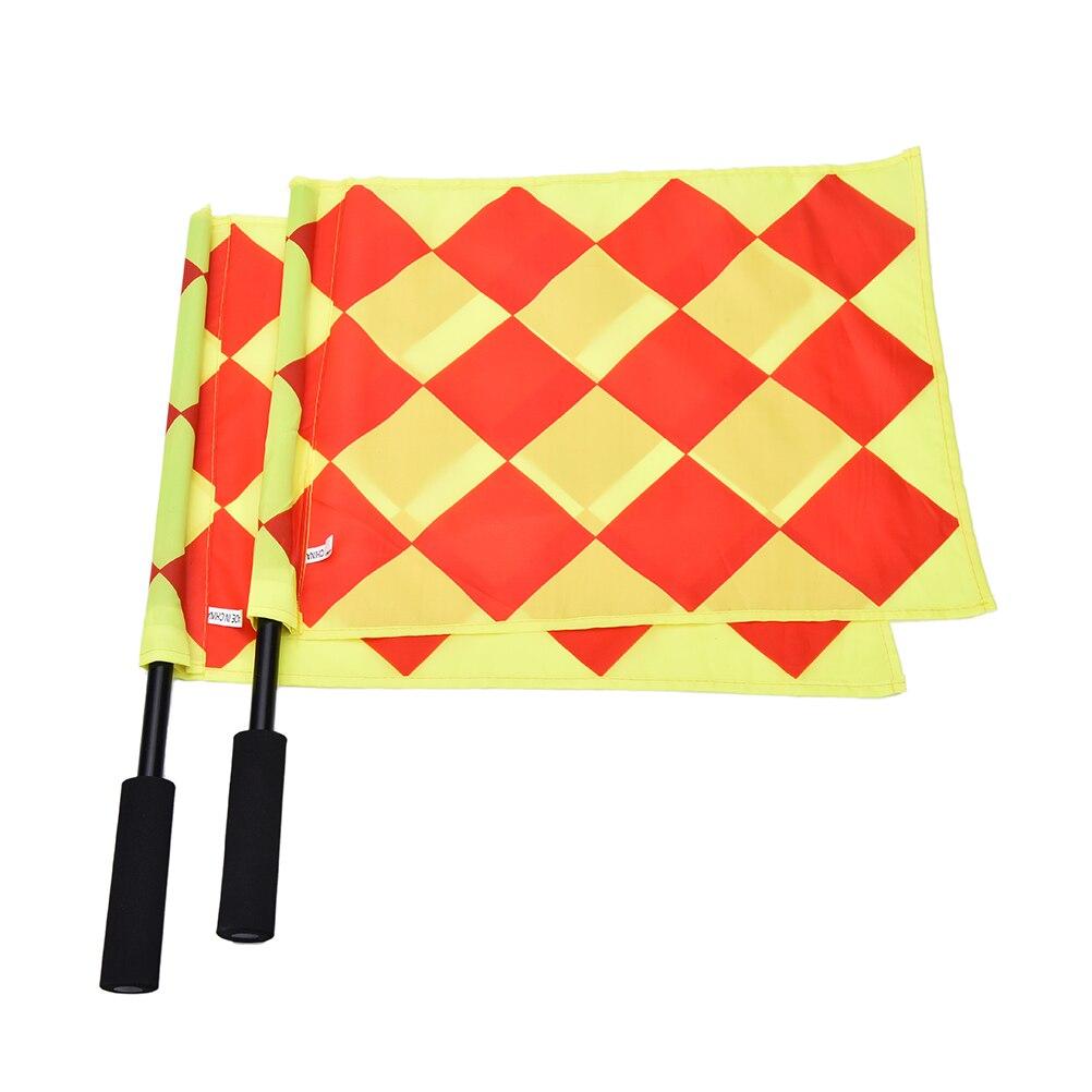 Judge de fútbol Sideline Fair Play uso partido deportivo juez de línea de fútbol banderas equipo de árbitro Bandera de referí de fútbol con bolsa de transporte