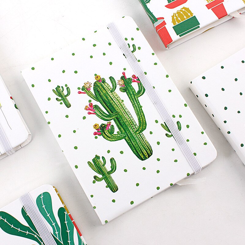 Cactus A5 A6 recambio para agenda semanal planificador mensual Accesorios para cuaderno regalos papelería útiles escolares con elástico