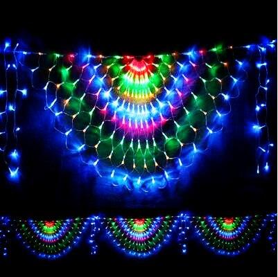 3x0.5m LED Christmas Lights Outdoor Garlands Decoration Peahen LED Net String Fairy Cristmas Lights Luces De Navidad