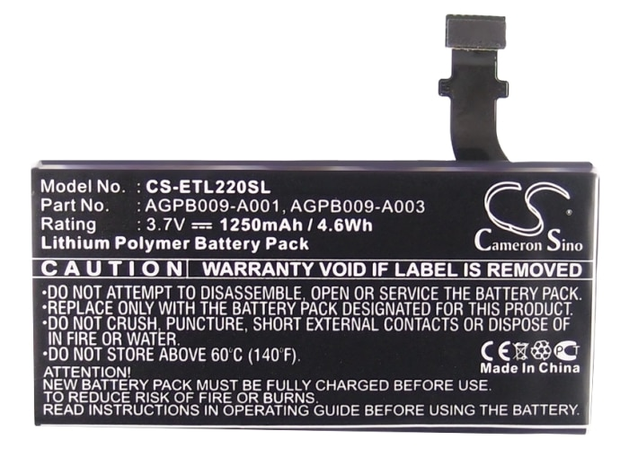 Cameron Sino 1250mAh batería de la batería AGPB009-A001 para Sony Ericsson LT22......