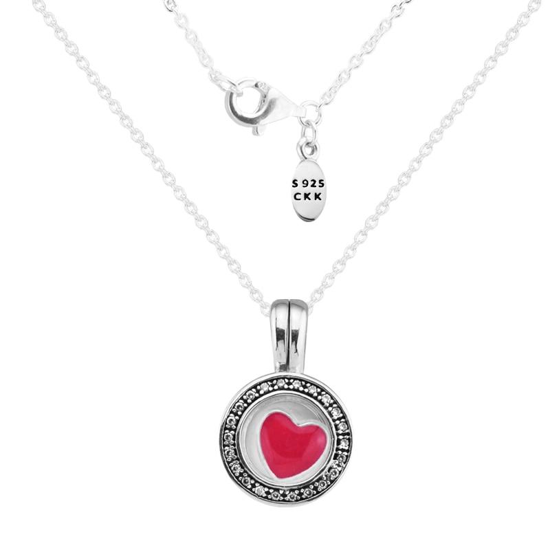 Colgante y collar Clarino FANDOLA con colgante de corazón 100% 925 joyería de plata esterlina envío gratis