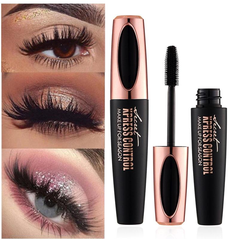 MACFEE 4d silk fiber eyelash mascara waterproof long lasting Thick curling lengthening black mascara 4d fiber lash mascara MA001