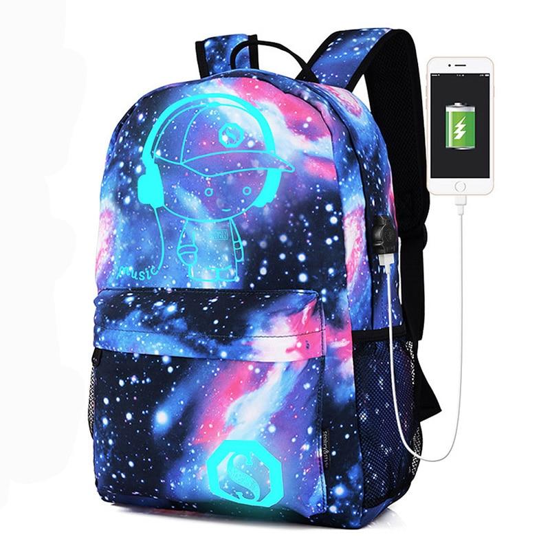 Mode sacs décole ciel étoilé sac à dos scolaire étudiant Animation lumineuse sac décole pour garçon cartable enfants sac pour filles