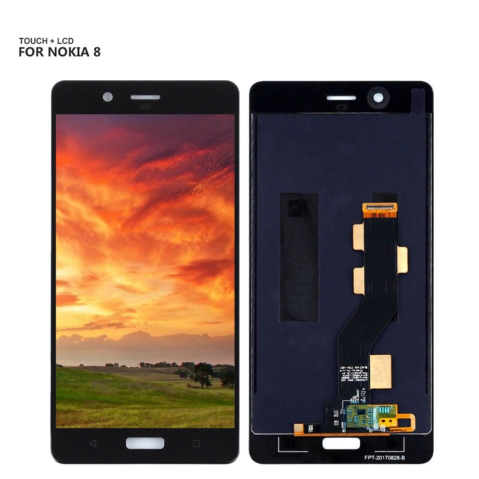 Для Nokia 8 N8 TA-1012 TA-1004 TA-1052 Полный ЖК-дисплей кодирующий преобразователь сенсорного экрана в сборе Бесплатные инструменты