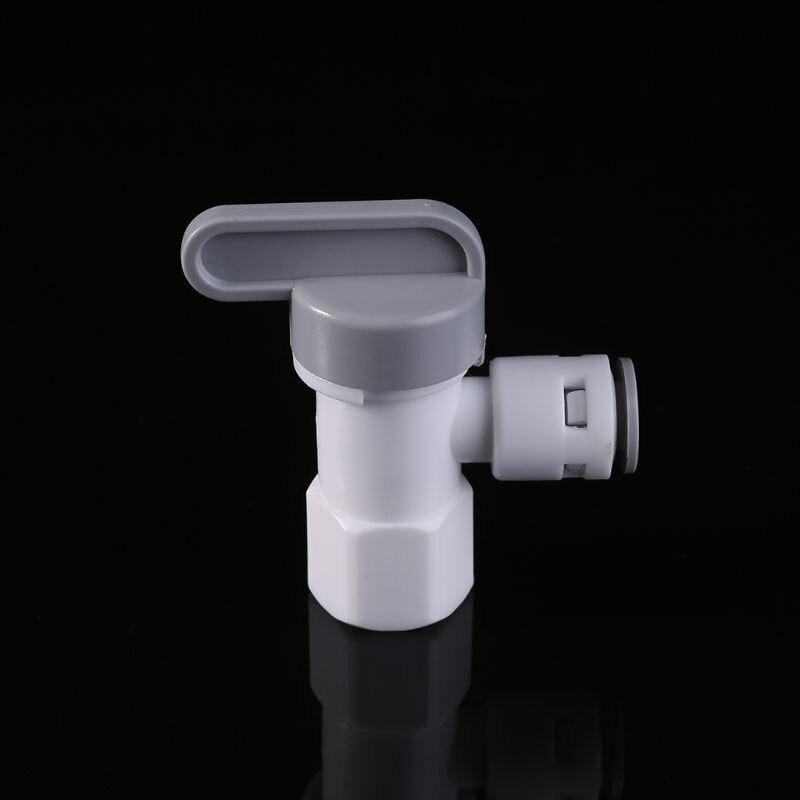 Válvula de bola de ángulo de tanque 1/4 tubo para purificador de sistema de filtro de ósmosis inversa RO
